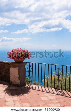 Terrace of luxury - stock photo
