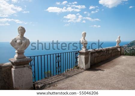 Terrace to the sea - stock photo