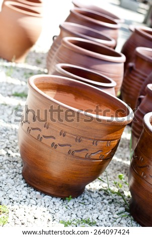 Terracotta Pots  - stock photo