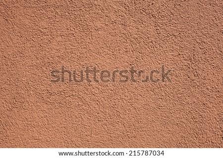 terracotta stucco wall - stock photo