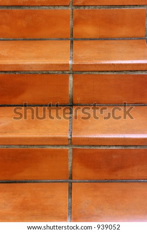 Terracotta Tile Stairs