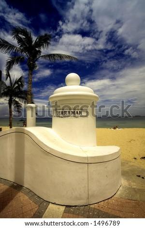 Terrarmar Ft. Lauderdale Beach, FL USA - stock photo