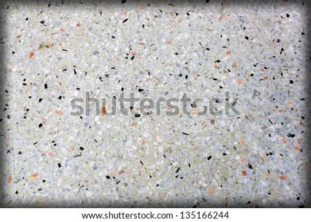 Terrazzo background image of terrazzo floor white. - stock photo
