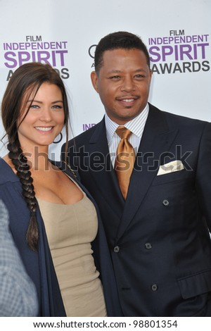 Terrence Howard at the 2012 Film Independent Spirit Awards on the beach in Santa Monica, CA. February 25, 2012  Santa Monica, CA Picture: Paul Smith / Featureflash