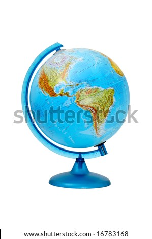 terrestrial global isolated on a white background