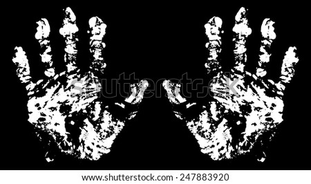 Terrible Hand Trace for your design. - stock photo