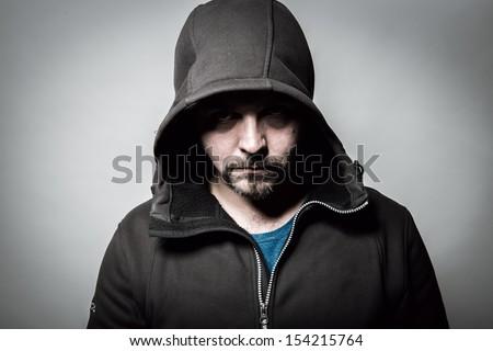 Terror portrait - stock photo