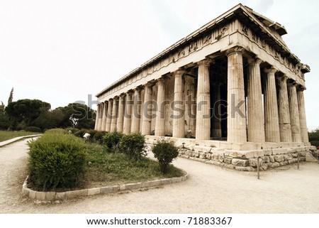 Teseo's Temple in Ancient Agora .Athena.Greece - stock photo