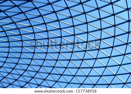 Tessellation triangle background in blue tone - stock photo