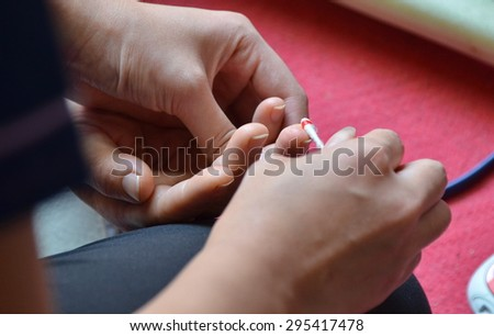 test blood emergency patient. - stock photo
