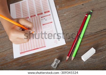 test,exam - stock photo