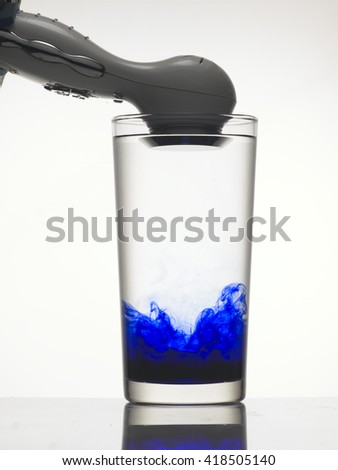 Test of vibration in water.  - stock photo
