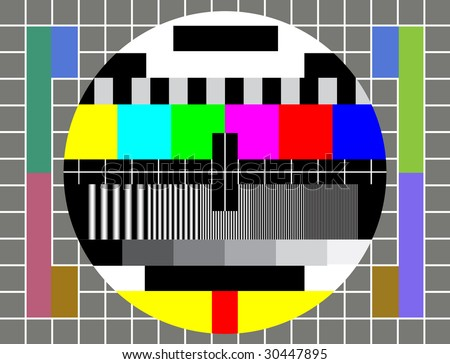 Test Pattern for TV - stock photo