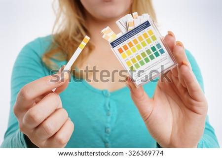 Test PH value  - stock photo