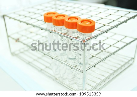 test tube, glass test tube equipment in laboratory