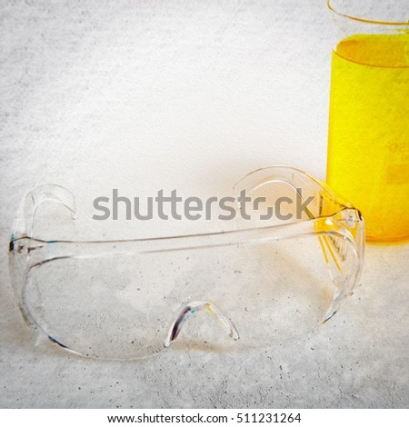Test tube on textured background