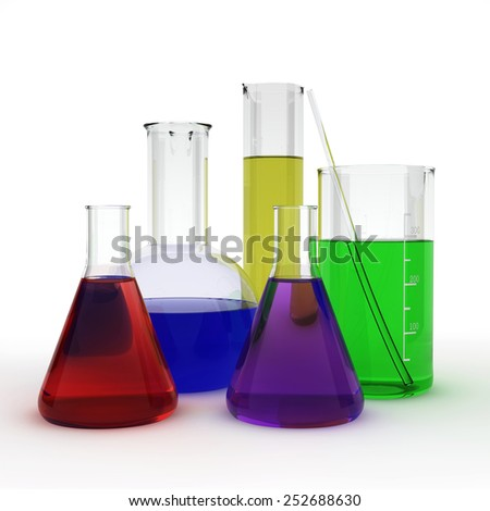 Test tubes - stock photo