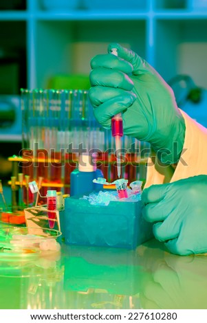 test tubes and dropper - stock photo