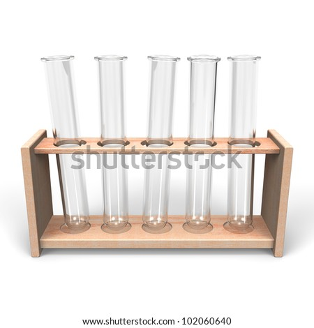 Test Tubes Front View - stock photo