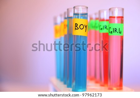 test tubes in a chemical pregnancy