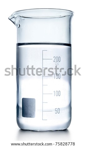 Test-tubes in gray colors isolated on white. Laboratory glassware - stock photo