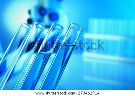 Test tubes in laboratory - stock photo