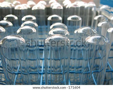 test tubes, scientific, educational - stock photo