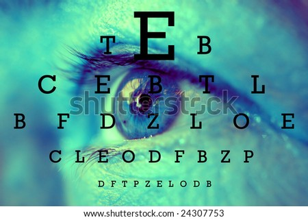 test vision chart - stock photo