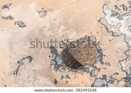 Testing for Compaction using Coring - stock photo