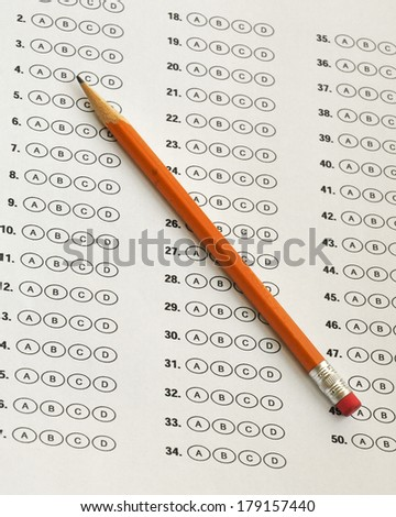 testing sheet - stock photo