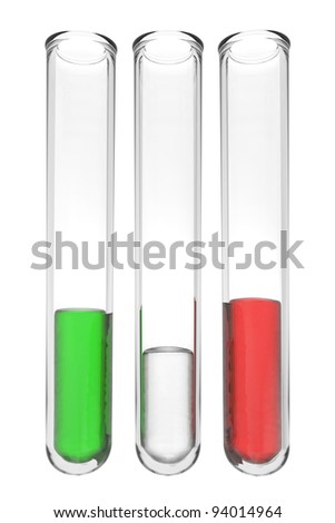testtubes with liquids in italian colors