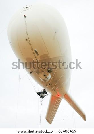 tethered border patrol balloon - stock photo