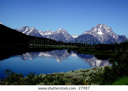 Teton mountains.