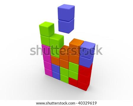 Tetris game - stock photo