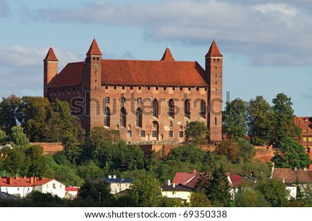 Teutonic castle in Gniew at the summer, Poland