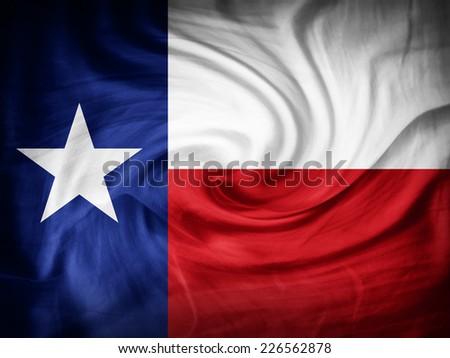 Texas flag - stock photo