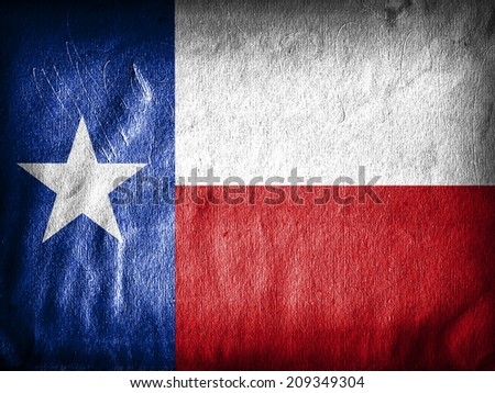 Texas flag  and wall background - stock photo