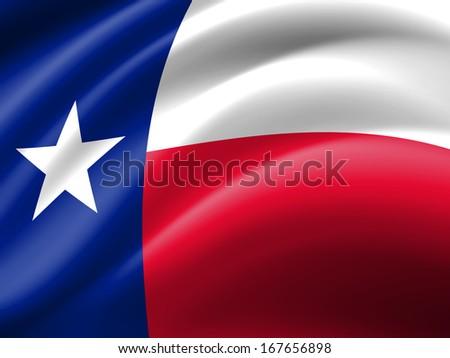 Texas flag folds background - stock photo
