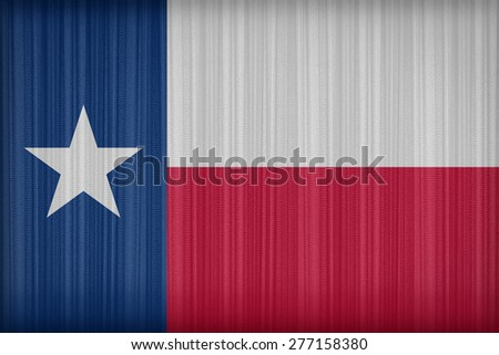 Texas flag pattern on the fabric curtain, vintage style - stock photo