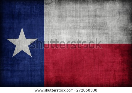 Texas flag pattern, retro vintage style - stock photo