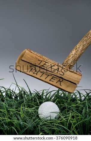 Texas golf putter with room for your type. - stock photo