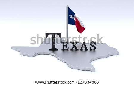 Texas map - stock photo