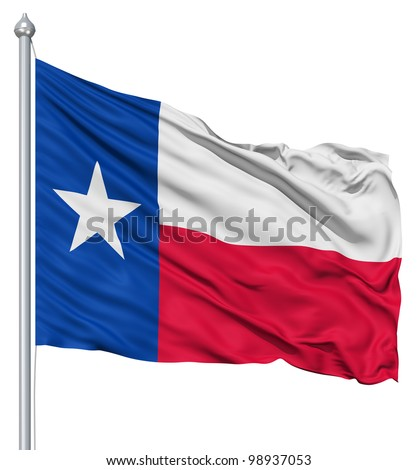 Texas national flag waving in the wind