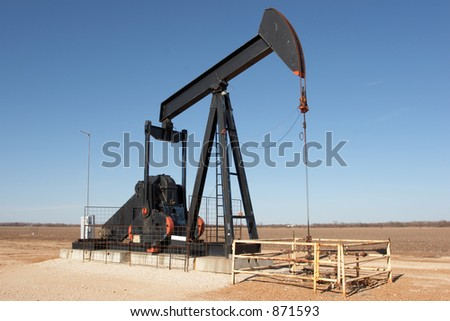 Texas pumpjack - stock photo