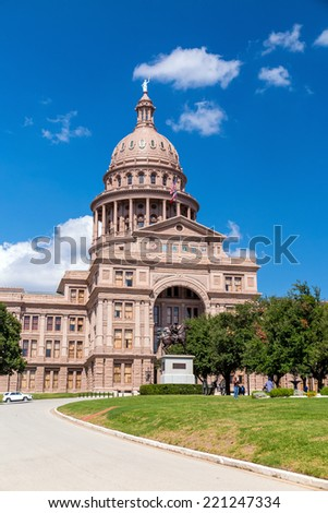 Texas State Capitol Building in Austin, TX. - stock photo