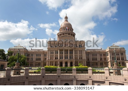 Texas State Capitol building located in Austin, Texas, USA.