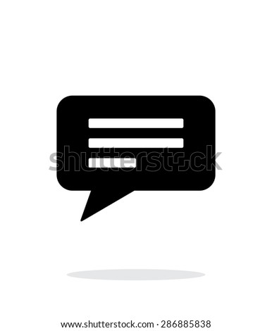 Text bubble simple icon on white background. - stock photo