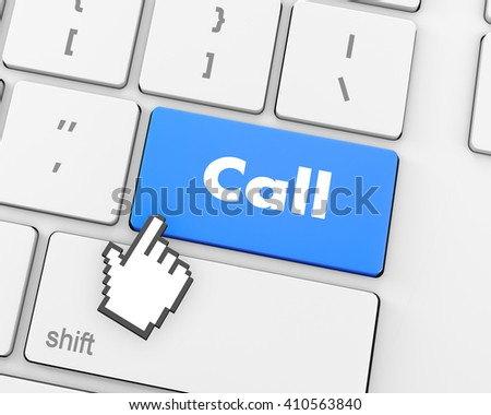 Text cell button, 3d rendering