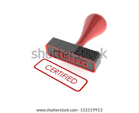 "text "" Certified "" rubber stamp on white background"