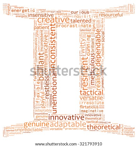 Text collage of the zodiac Gemini - stock photo